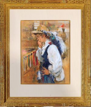 Akio Matsumura A girl wearing a feather hat