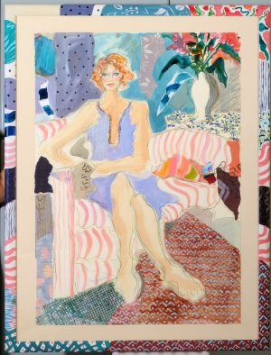 Ann Barbieri Andrea on Striped Chair
