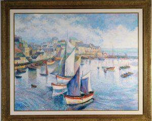 H. Claude Pissaro Le Port de Douarnenez